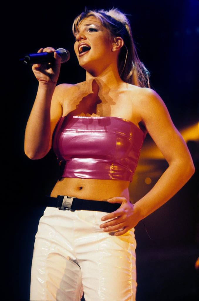 Britney was wrapped in pink in July 1999.