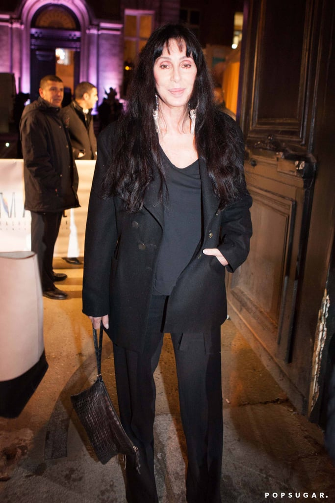 Cher attended the Gareth Pugh show for Paris Fashion Week in March.