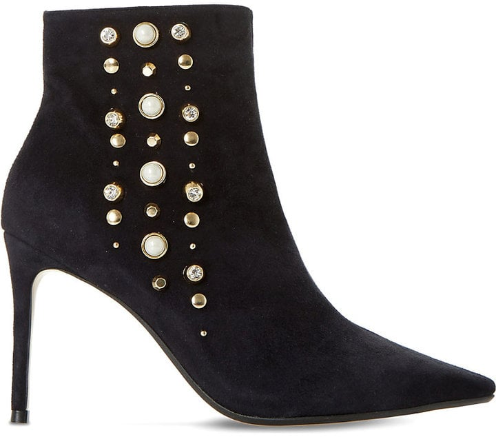 DUNE Onyxx embellished suede ankle boots SUJFNW