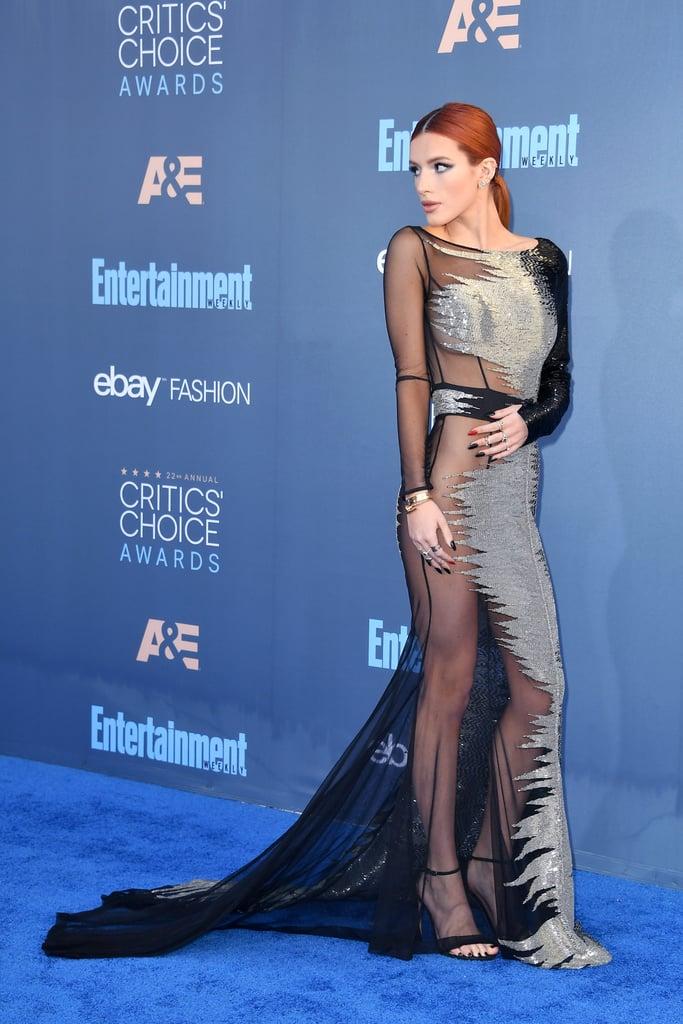 Bella Thorne Critics Choice Awards gown