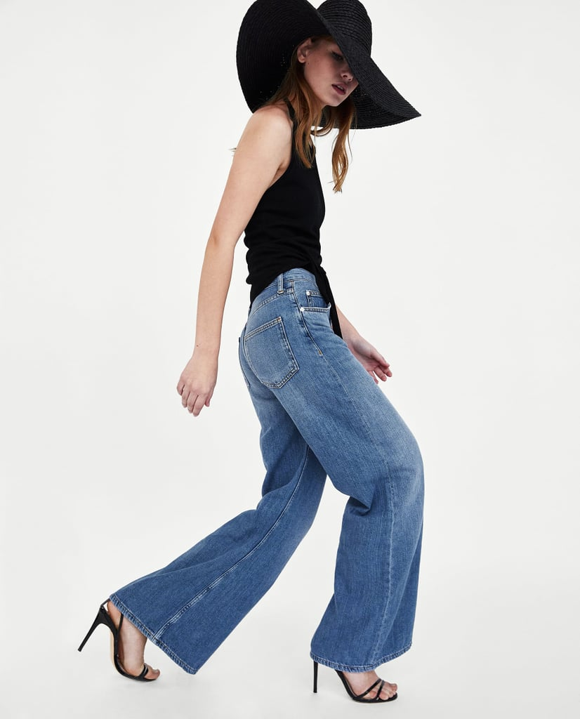 Zara Jeans Wide Leg in Malibu Blue