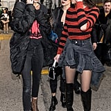 She Kept Warm in a Puffer Coat Outside of Anna Sui With Her BFFs Gigi and Bella Hadid