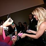 Britney Spears signed autographs for fans.