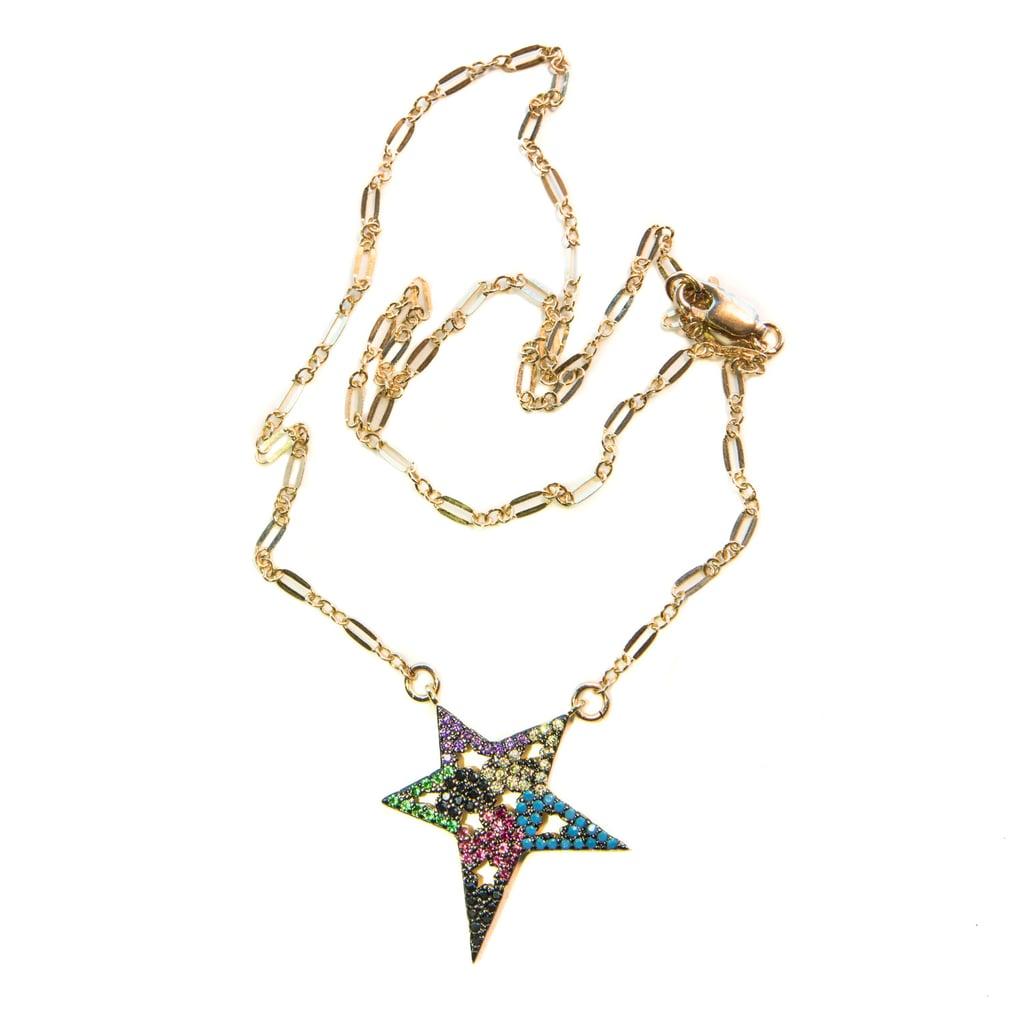 Civetta Retro Star Crystal Necklace