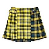 Topshop Mix Check Kilt Miniskirt