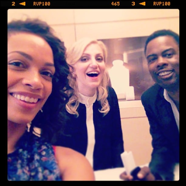 Rosario Dawson and Chris Rock had a laugh with Broadway