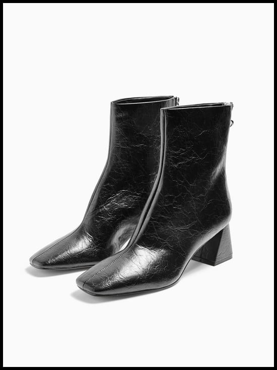 Topshop Breeze Square Toe Ankle Boots