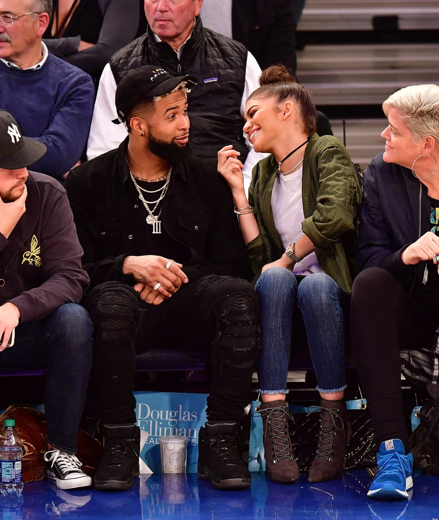 Kia Of Jackson >> Zendaya and Odell Beckham Jr. at Knicks Game November 2016 ...