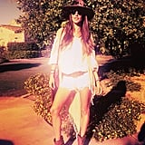 Alessandra Ambrosio's first-day Coachella look was spot on. Source: Instagram user alecambrosio
