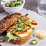 Spicy Green Goddess Sandwich With Grilled Halloumi