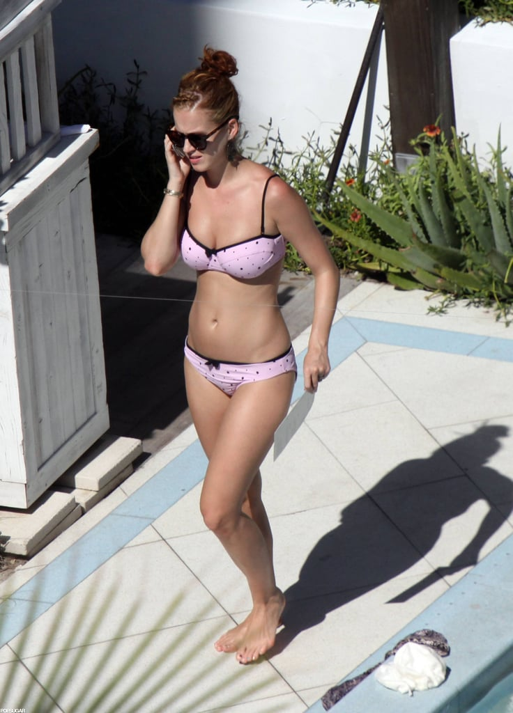 She rocked a pink, polka-dot bikini in Miami in June 2011.