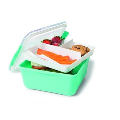 Kmart Square Lunch Container With Tray $5  sc 1 st  POPSUGAR Australia & Kmart Square Lunch Container With Tray $5 | Containers for Portion ...