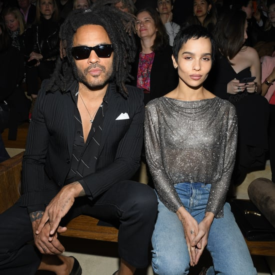 Zoë and Lenny Kravitz's Outfits at the Saint Laurent Show