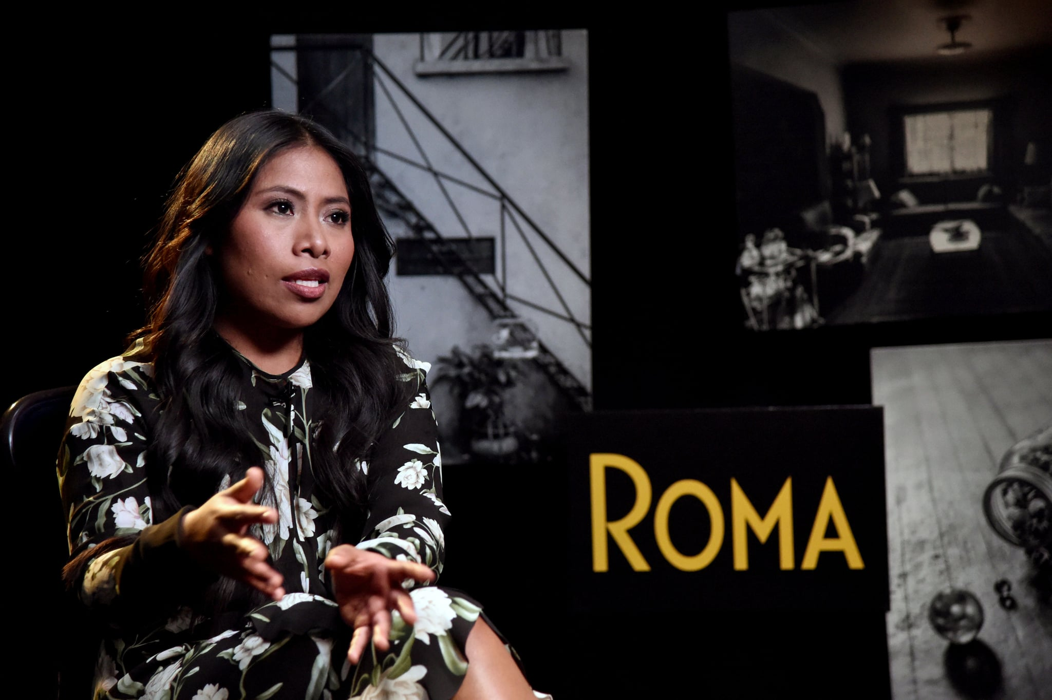 Mexican actress Yalitza Aparicio speaks during an interview with AFP in Mexico City on January 29, 2019. - Aparicio, an indigenous Mexican woman, earned a best-actress nomination for the Oscars for her role in the Netflix film Roma. (Photo by RODRIGO ARANGUA / AFP)        (Photo credit should read RODRIGO ARANGUA/AFP/Getty Images)