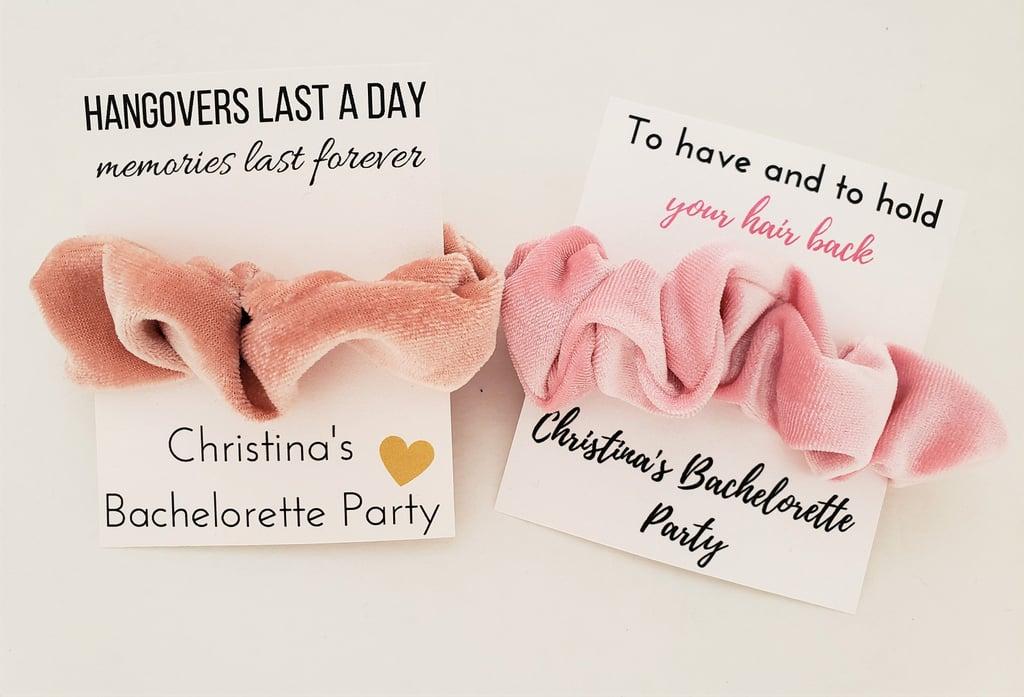 Bachelorette Party Favor Scrunchies