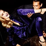 This model dons a flashy Tom Ford tailored purple suit. Source: Fashion Gone Rogue