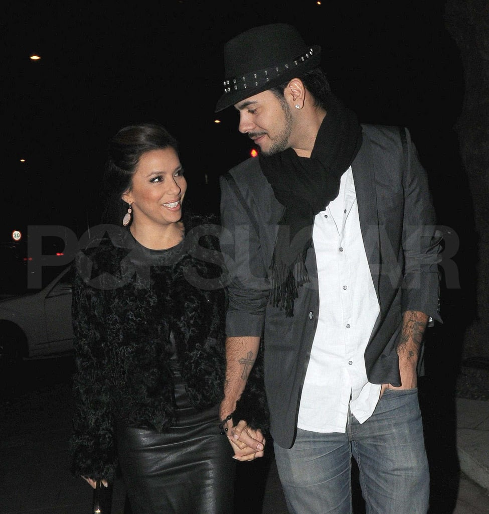 Eva Longoria and boyfriend Eduardo Cruz exchanged a loving gaze as they held hands out in London on Friday night. The two are coming up on their one-year anniversary of dating, and while they were recently rumored to be on the outs, it looks like things are going strong with Eva and Eduardo. This evening, Eva is helping to honor Mariah Carey at the Noble Gift Gala, where Leona Lewis is scheduled to perform. Eva and Eduardo are one of the hottest new couples of the year, but it's his nephew Leo Bardem who is making a mark in our Best of 2011 coverage. Among all of the great new celebrity babies of the year, little Leo, whose parents are Penelope Cruz and Javier Bardem, is one of the arrivals that excited us the most.