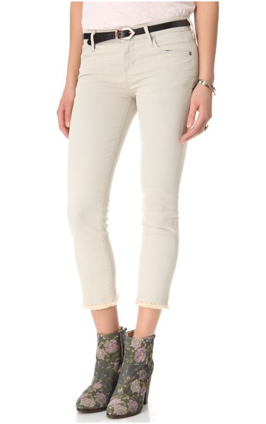 Channel your inner Parisian cool and pair a slouched tee and moto boots with these Citizens of Humanity Avedon cutoff jeans ($99-$119, originally $198).