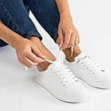 ASOS Design Wide Fit Dustin Lace Up Sneakers in White