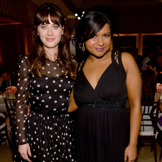 Zooey Deschanel's and Mindy Kaling's Hair at Elle Event 2014