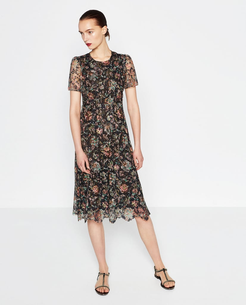 Zara Lace Midi Dress ($100)
