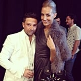 Aurelio Costarella and Laura Dundovic celebrated after his show. Source: Instagram user myer_mystore