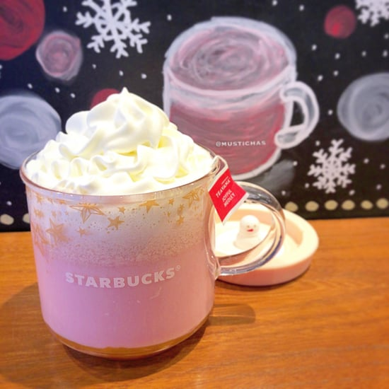 Starbucks Japan Pink Medley Tea Latte