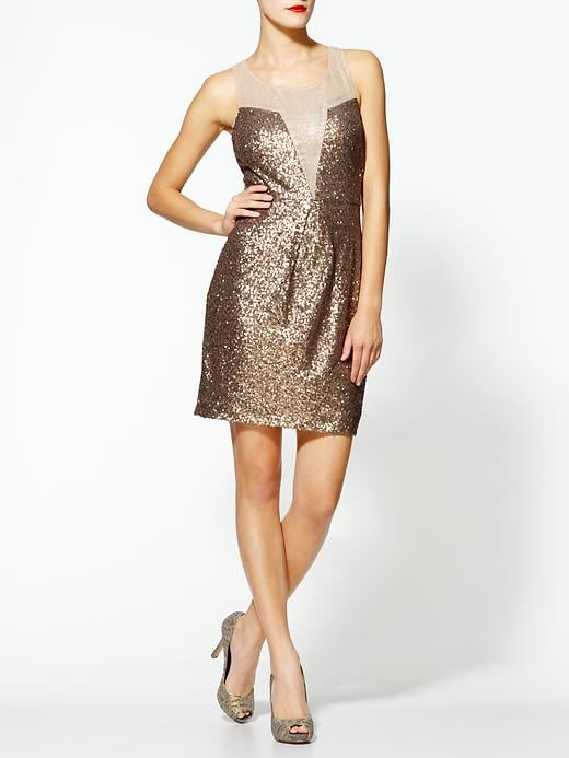 The gold sequins and sheer inset give this Ark & Co. Golden Goddess Dress ($99) a much more luxe feel. Golden goddess, indeed.