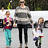 Jennifer Garner took her daughters, Violet and Seraphina Affleck, to the farmers market in LA.