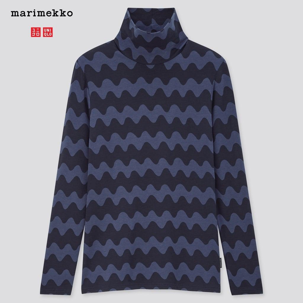 Uniqlo Women Marimekko Heattech Extra Warm Tutleneck Thermal Top