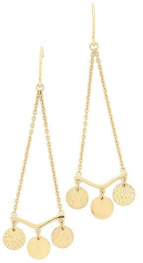 Picture these Gorjana Fatima drop earrings ($45) with a breezy halter dress for an easy night-out style.