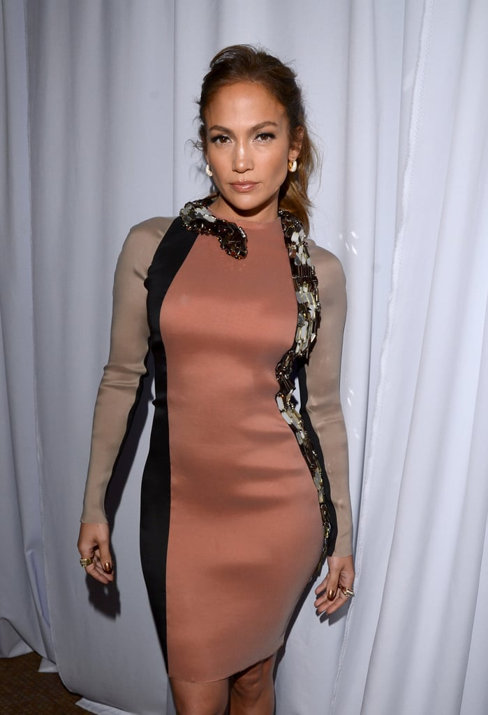 Jennifer Lopez wore a snake Lanvin dress to her press conference to announce her tour.
