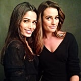 Lea Michele teamed up with Freida Pinto on a L'Oréal photo shoot. Source: Instagram user msleamichele