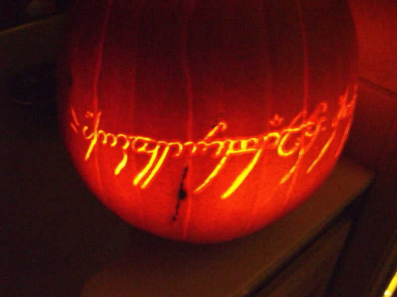 One Pumpkin to Rule Them All From Lord of the Rings