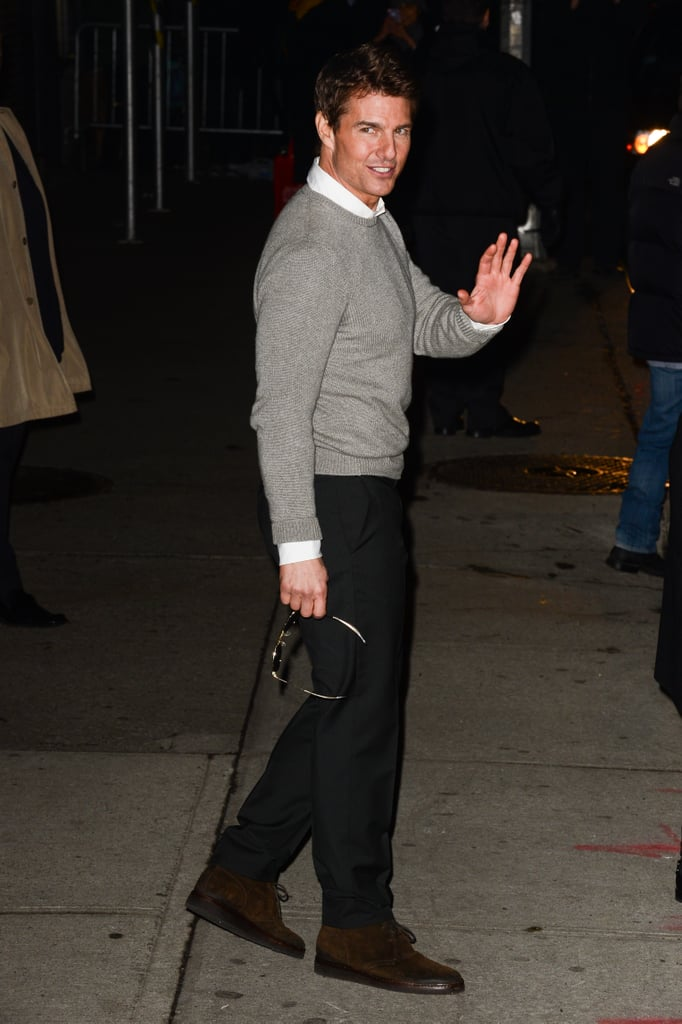 Tom appeared on the Late Show after canceling the premiere of Jack Reacher.