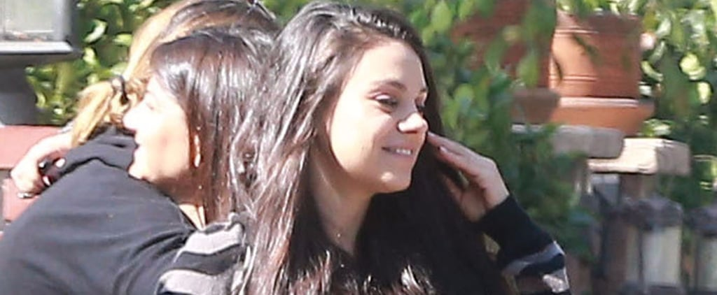 Mila Kunis Is All Smiles After Ashton Kutcher Reveals the Sex of Their Baby