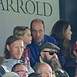 William, Kate, George, and Charlotte at Football Game Pictures
