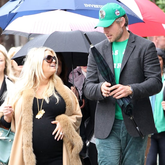 Jessica Simpson Pregnant St. Patrick's Day Pictures