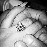 Lady Gaga's heart-shaped engagement ring is front and center in her Instagram.