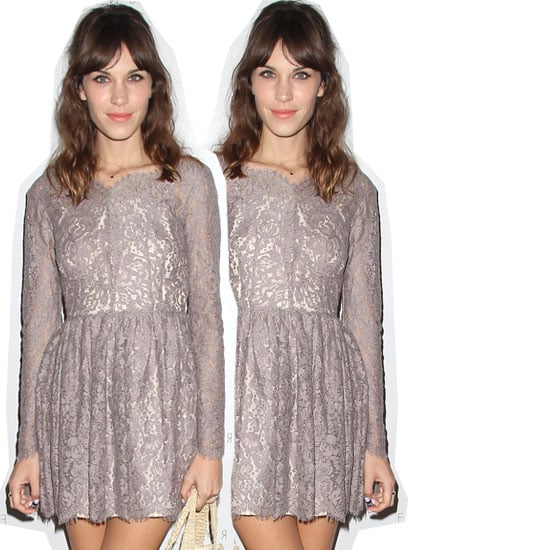Pictures of Alexa Chung at The Foundry Store opening in LA in Lover Lace Dress: Buy In Online Now!