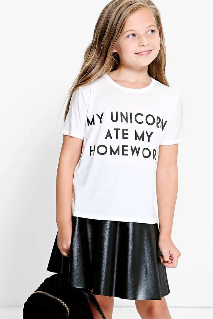 Unicorn Ate My Homework Tee