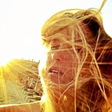 Bar Refaeli snapped a self-portrait during an August sunset. Source: Instagram user barrefaeli