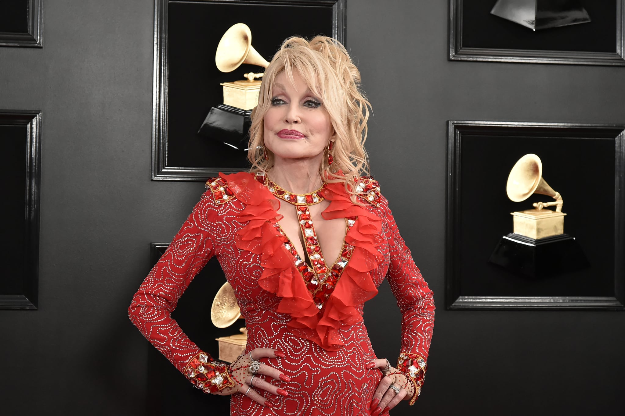 LOS ANGELES, CALIFORNIA - FEBRUARY 10: Dolly Parton attends the 61st Annual Grammy Awards at Staples Centre on February 10, 2019 in Los Angeles, California. (Photo by David Crotty/Patrick McMullan via Getty Images)
