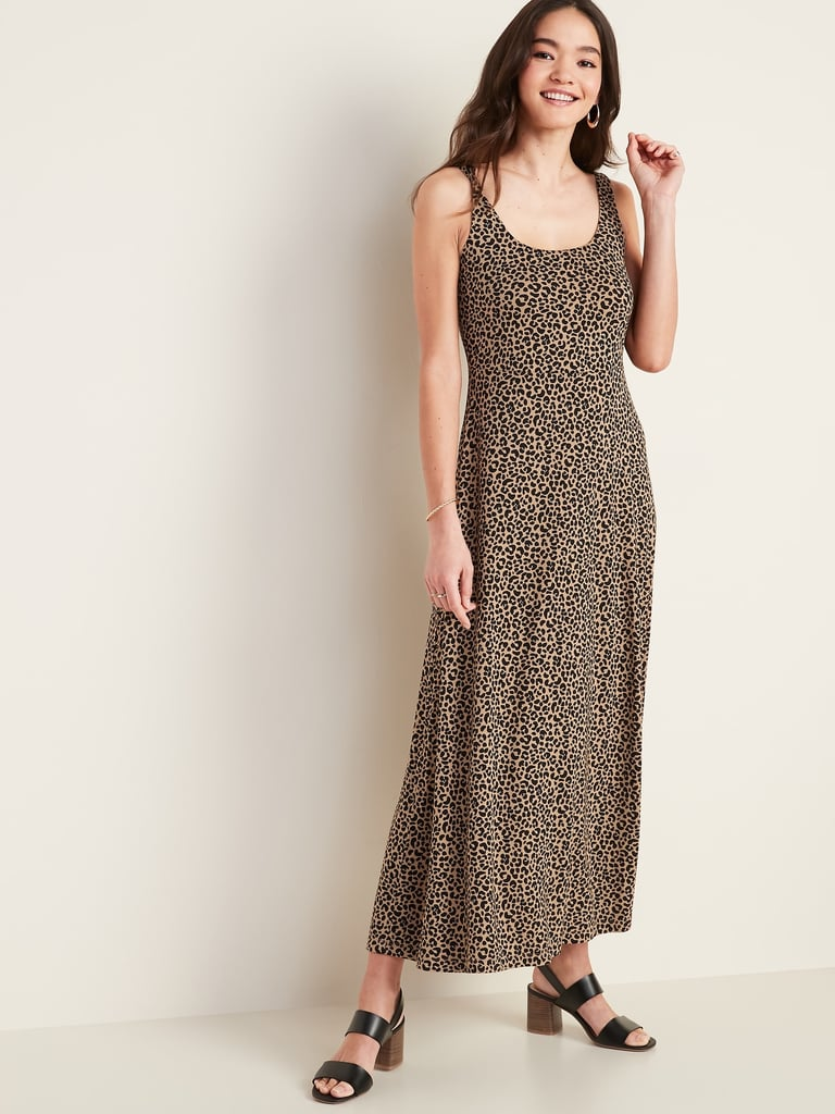 Scoop-Neck Jersey Maxi Dress
