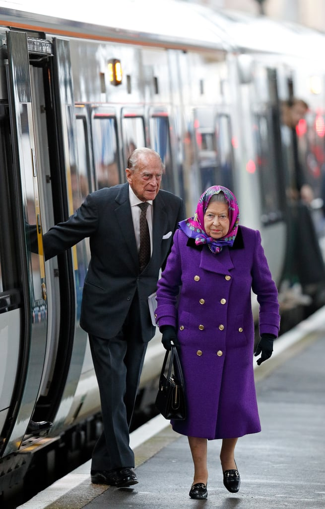 Queen Elizabeth and Prince Philip Christmas Train Ride 2017