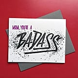 Badass Mom Letterpress Card