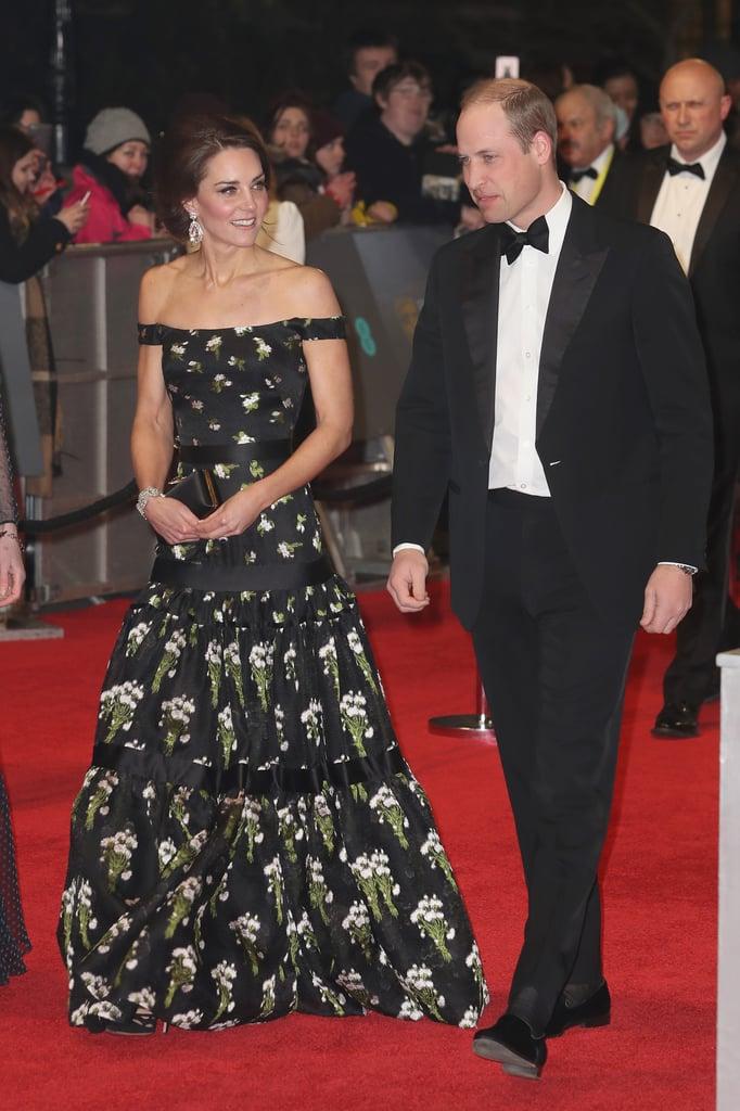 Kate Middleton Alexander McQueen Dress at BAFTA Awards ...