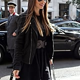 Jessica Biel had a smile on her face for a day of shopping in Paris.