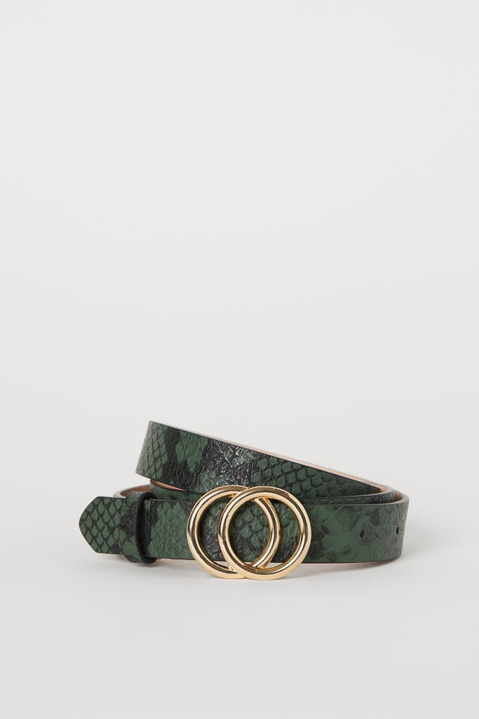 H&M Snakeskin Narrow Belt
