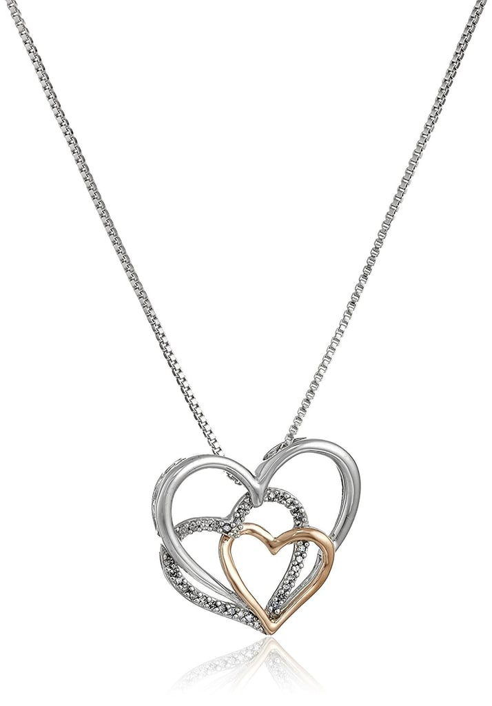 Triple Heart Pendant Necklace